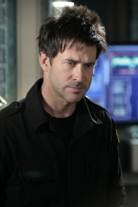 """Joe Flanigan as Colonel John Sheppard in the season four Stargate Atlantis episode """"The Seer."""" Photo by Eike Schroter and copyright The Sci Fi Channel"""