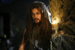 """Ronon pitches in to help save his colleague Rodney McKay's life in season five's """"The Shrine."""" Photo by Eike Schroter and copyright The Sci Fi Channel"""
