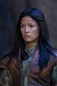 Natassia Malthe as Perfidia in Knights of Bloodsteel. Photo by Carol Segal and copyright of The Sci Fi Channel