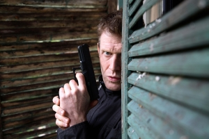 Jason Flemying as D.C. Danny Vernon. Photo courtesy of and copyright of BBC America