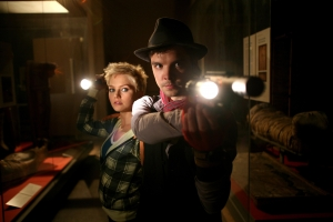 Abby (Hannah Spearritt) and Connor (Andrew Lee Potts) on the hunt for yet another dangerous creature. Photo courtesy of and copyright of BBC America
