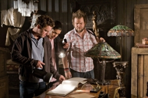 Sam, Ben and Sock contemplate their next move. Photo courtesy of and copyright of the CW Network