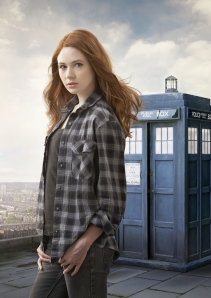 """Karen Gillan prepares to embark on her journey through Time and Space onboard the TARDIS in """"Doctor Who."""" Photo copyright of the BBC."""