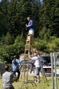 Martin Wood reaches for new heights directing Sanctuary. Photo by Jeff Weddell and copyright of the Sci Fi Channel