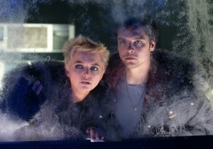 Abby and Connor check out the latest anomaly. Photo copyright of Impossible Pictures