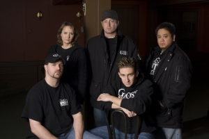 The Ghost Hunters International team (clockwise l-r) - Robb Demarest, Brandy Green, Barry FitzGerald, Joe Chin and Dustin Pari. Photo by Barbara Nitke and copyright of the Sci Fi Channel