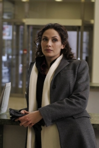 "Joanne Kelly as Myka Bering in the season one episode ""Resonance."" Photo by Philippe Bosse and copyright of The Sci Fi Channel"