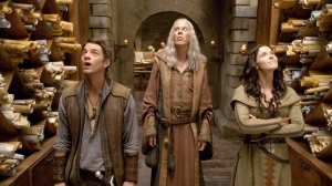 Richard, Zedd (Bruce Spence) and Kahlan stand in awe of the majestic library. Photo copyright of Disney/ABC Domestic Television
