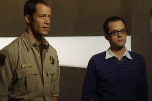 Sheriff Carter and Douglas Fargo (Neil Grayston). Photo by Marcel Williams and copyright of the Syfy Channel