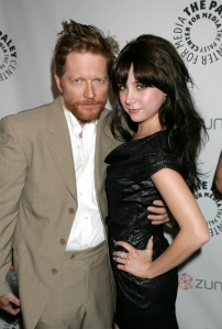 Caprica's Eric Stoltz (Daniel Graystone) and Alessandra Torresani (Zoe Graystone). Photo by Evans Ward and copyright of The Syfy Channel