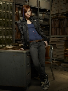 Allison Scagliotti as Claudia Donovan in Warehouse 13. Photo by Justin Stephens and copyright of The Syfy Channel