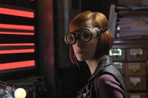 "Claudia is put right to work in the episode ""Elements."" Photo by Philippe Bosse and copyright of The Syfy Channel"