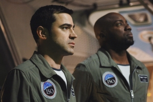 Ron Livingston (as Maddux Donner) and Malik Yoba (as Ted Shaw) in Defying Gravity. Photo copyright of ABC Television