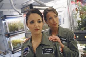 Paula Garces (as Paula Morales) and Christina Cox (as Jen Crane) in Defying Gravity. Photo copyright of ABC Television