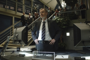 Mike Goss at his post in Mission Control. Photo by Sergei Bachlakov and copyright of Fox Studios/ABC