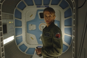 Jen senses that something is not quite right onboard the Antares. Photo by Sergei Bachlakov and copyright of Fox Studios/ABC