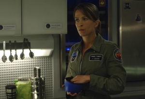 A bit of downtime for Jen in the Antares galley. Photo by Sergei Bachlakov and copyright of Fox Studios/ABC