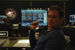 Rollie Crane at his post in Mission Control. Photo by Sergei Bachlakov and copyright of Fox Studios/ABC