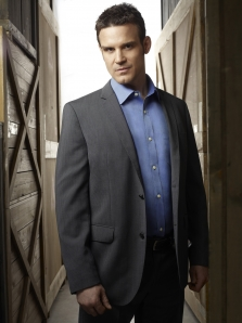 Eddie McClintock as Secret Service Agent Pete Lattimer in Warehouse 13. Photo by Philippe Bosse and copyright of The Syfy Channel