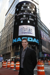 Eddie McClintock visits The Big Apple. Photo by Heide Gutman and copyright of The Syfy Channel