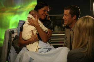 "Allison (Salli Richardson-Whitfield) finally has her baby with her ""coach"" Sheriff Jack Carter (Colin Ferguson) by her side. Photo by Marcel Williams and copyright of The Syfy Channel"