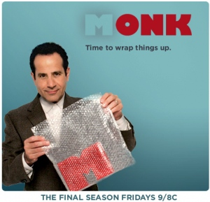 Tony Shalhoub as the USA Network's obsessive-compulsive detective Adrian Monk. Photo copyright of the USA Network