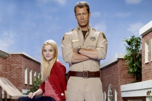 Things take an interesting turn for Sheriff Carter (Colin Ferguson) and his daughter Zoe (Jordan Hinson) in the season three finale of Eureka. Photo copyright of the Syfy Channel