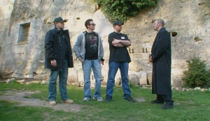 """(L-R): Barry FitzGerald, Dustin Pari and Robb Demarest in the season two GHI episode """"Gate to Hell."""" Photo copyright of The Syfy Channel"""