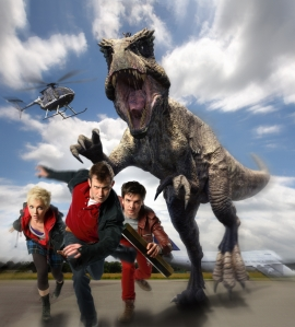 Abby (Hannah Spearritt), Danny (Jason Flemyng) and Connor (Andrew Lee Potts) will be back for more adventures on Primeval. Photo copyright of Touchstone Pictures