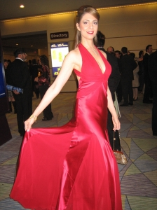 Ellen Dubin is all decked out for the Gemini Awards. Photo copyright of Wanstrom and Assoc.